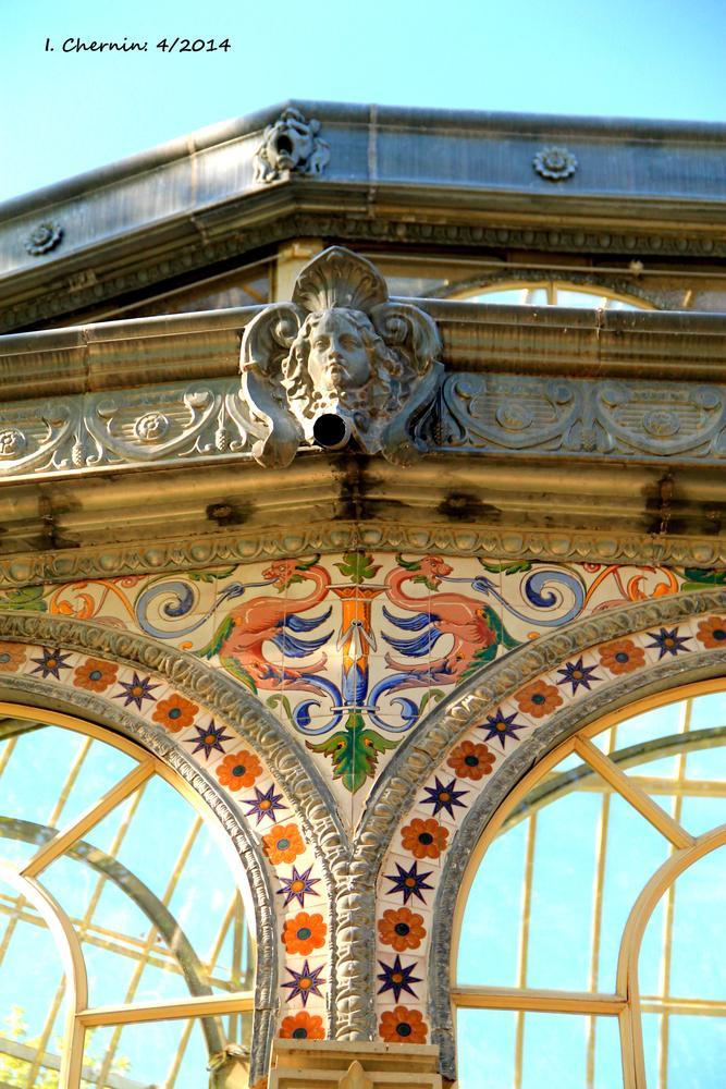 Photo in Architecture #madrid #spain #architecture #ceramic #retiro park #crystal palace