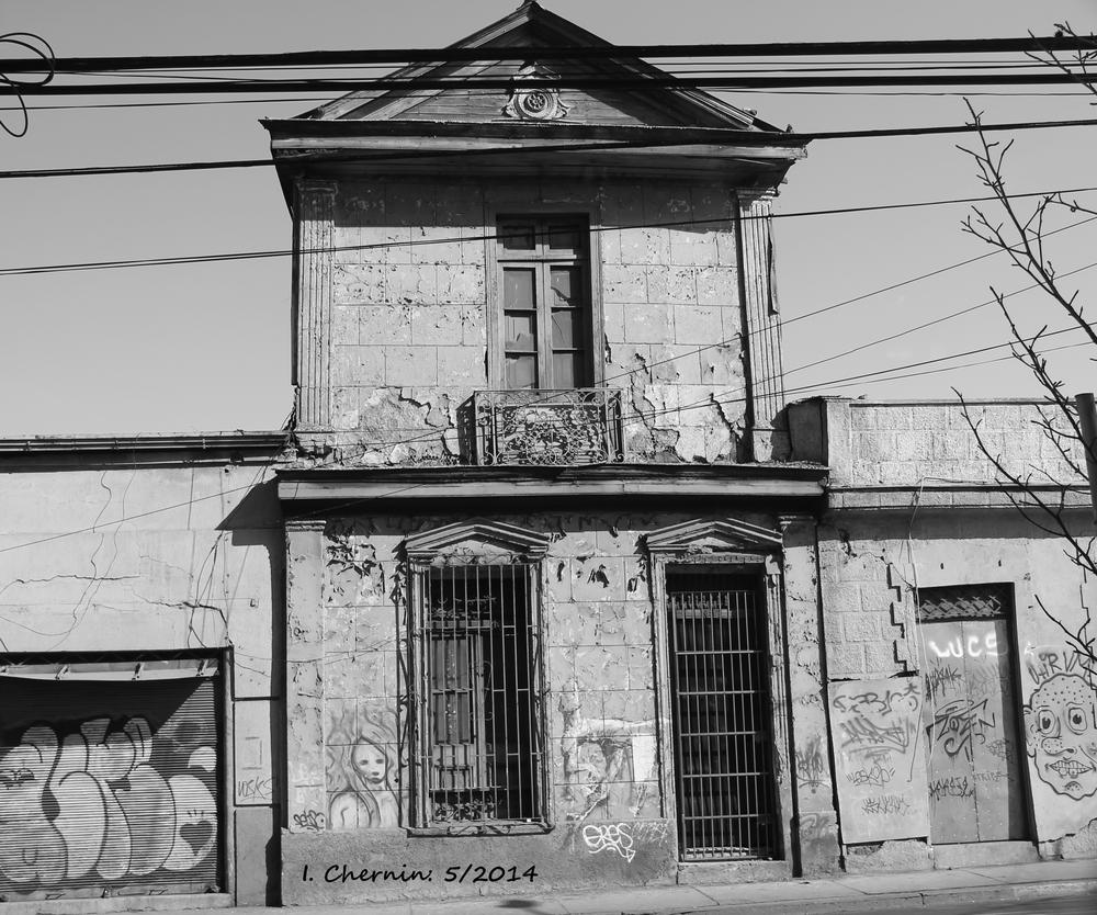 Photo in Black and White #santiago #chile #black and white #cityscape #street photography #decayed #urban