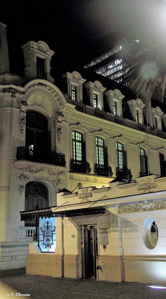 Photo in Architecture #santiago #chile #architecture #night #urban #street #cityscape