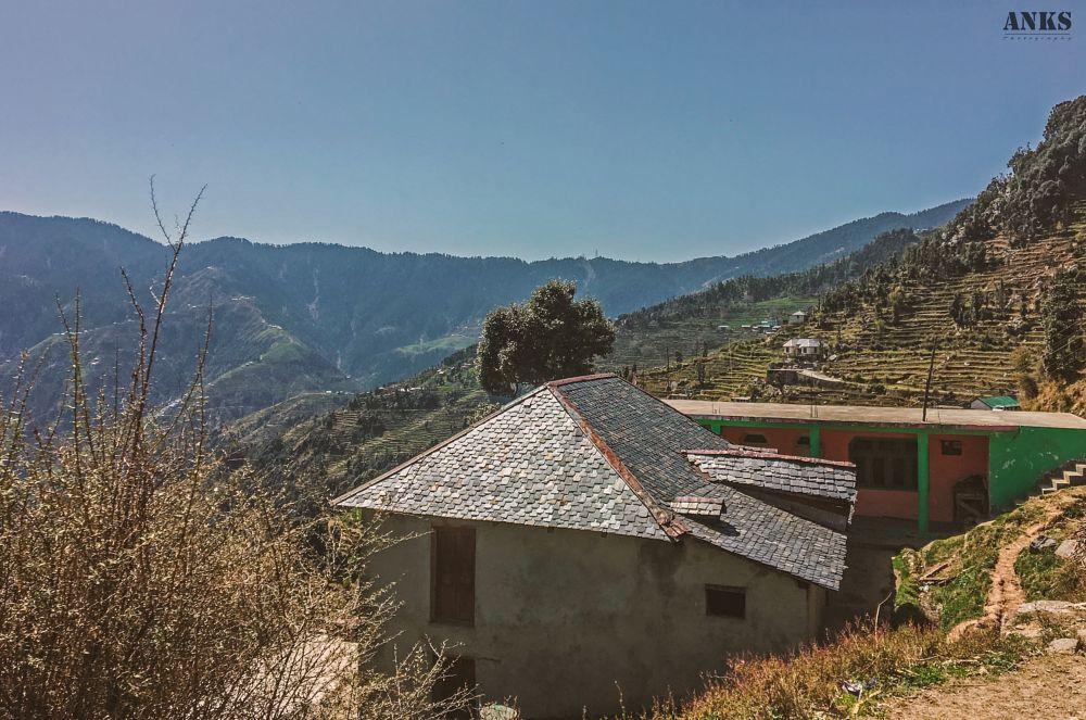 Photo in Landscape #himachal #anks photography #photobyanks #itsmeankushkumar #photographer #dare_to_click #stone #mountain #mountains #landscape photography #landscape #farm #house #roof #nature #natural #india #explore #travel #iphone #apple #iphone 6s #camera