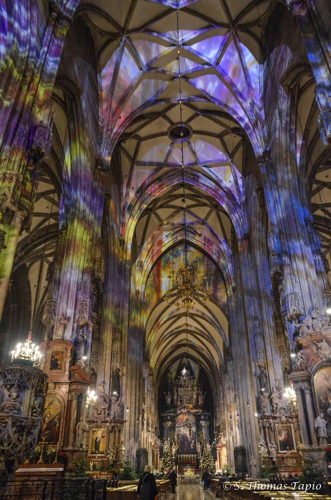 Photo in Interior #vienna #cathedral #illuminated #old_city #austria #church #interior #christmas season