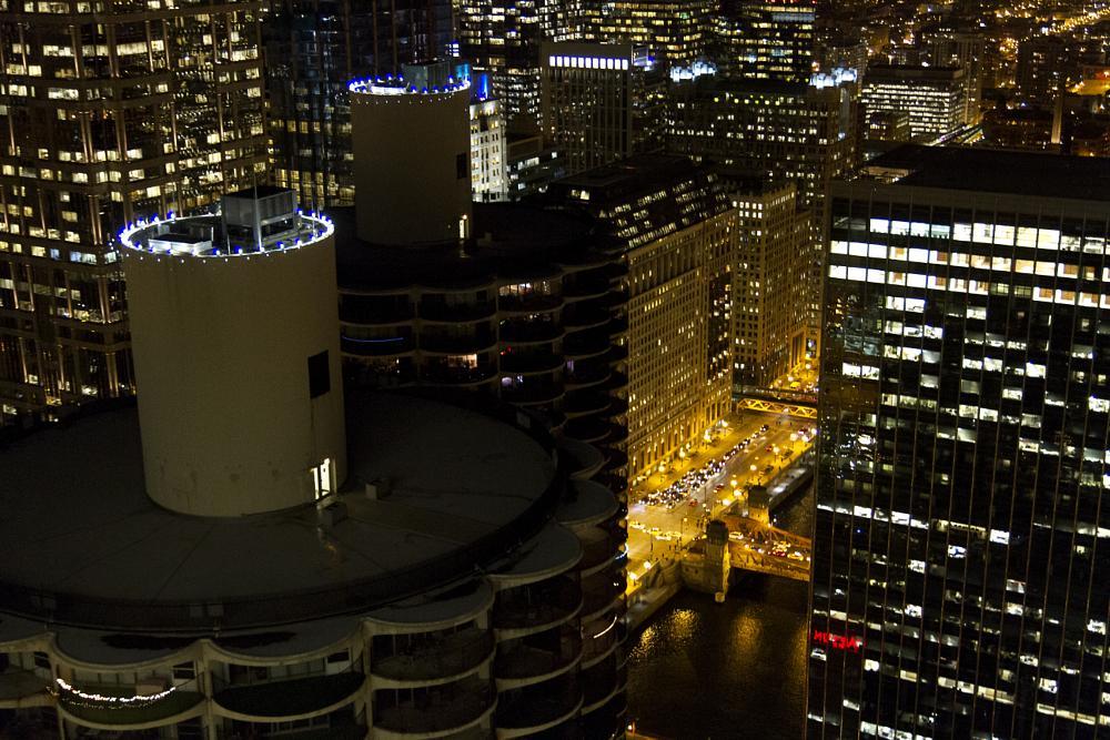 Photo in Cityscape #chicago #city scene #city view #marina towers #wacker drive #evening