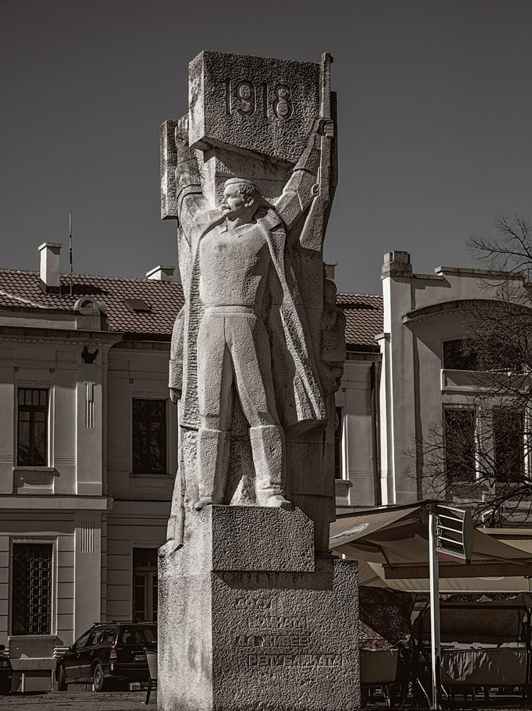 Photo in Street Photography #monument #trainstation #kyustendil #long live the republic