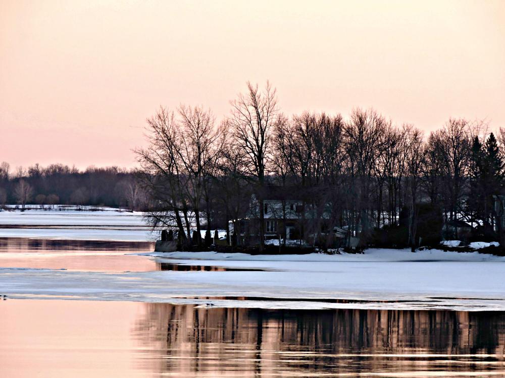 Photo in Random #lake #winter #sunset #landscape