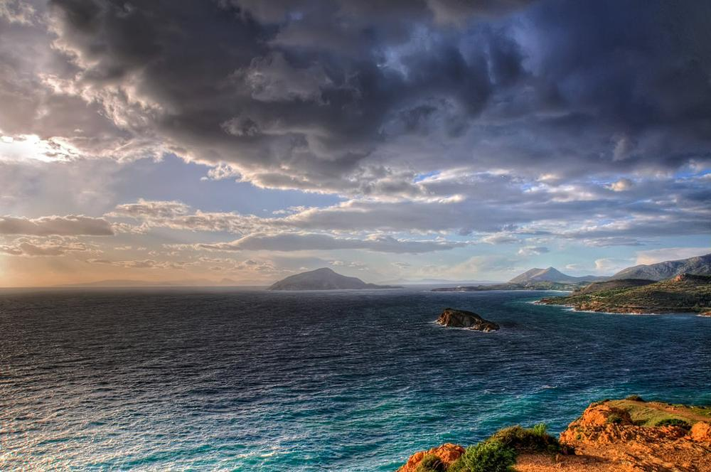 Photo in Landscape #greece #aegean sea #sounion #sea #sky