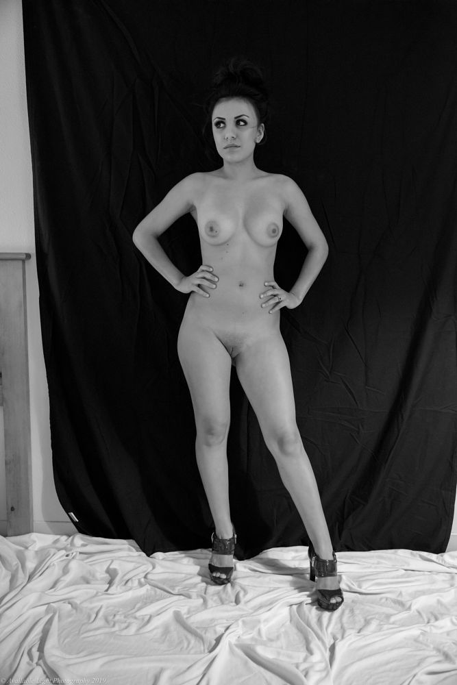 Photo in Black and White #helen #nude #available light #behind the scenes
