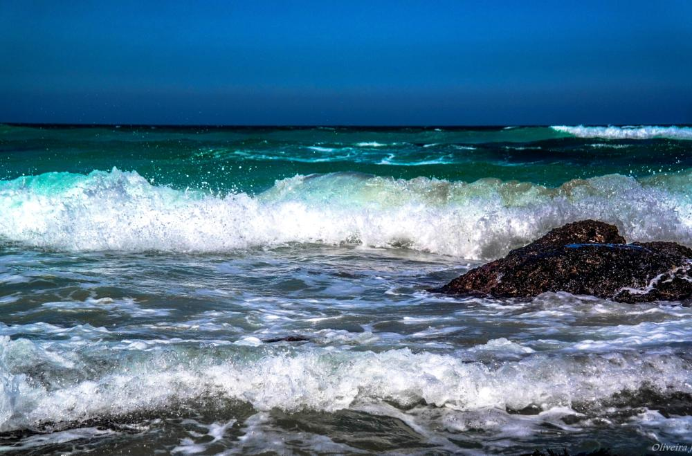 Photo in Nature #nature #sea #rocks #water #green #color #tide #waves