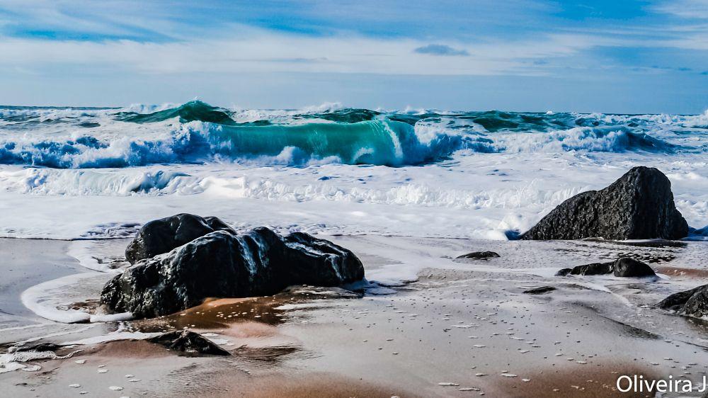 Photo in Landscape #sea #waves #rocks #seacape #landscape #foam #ocean #sand