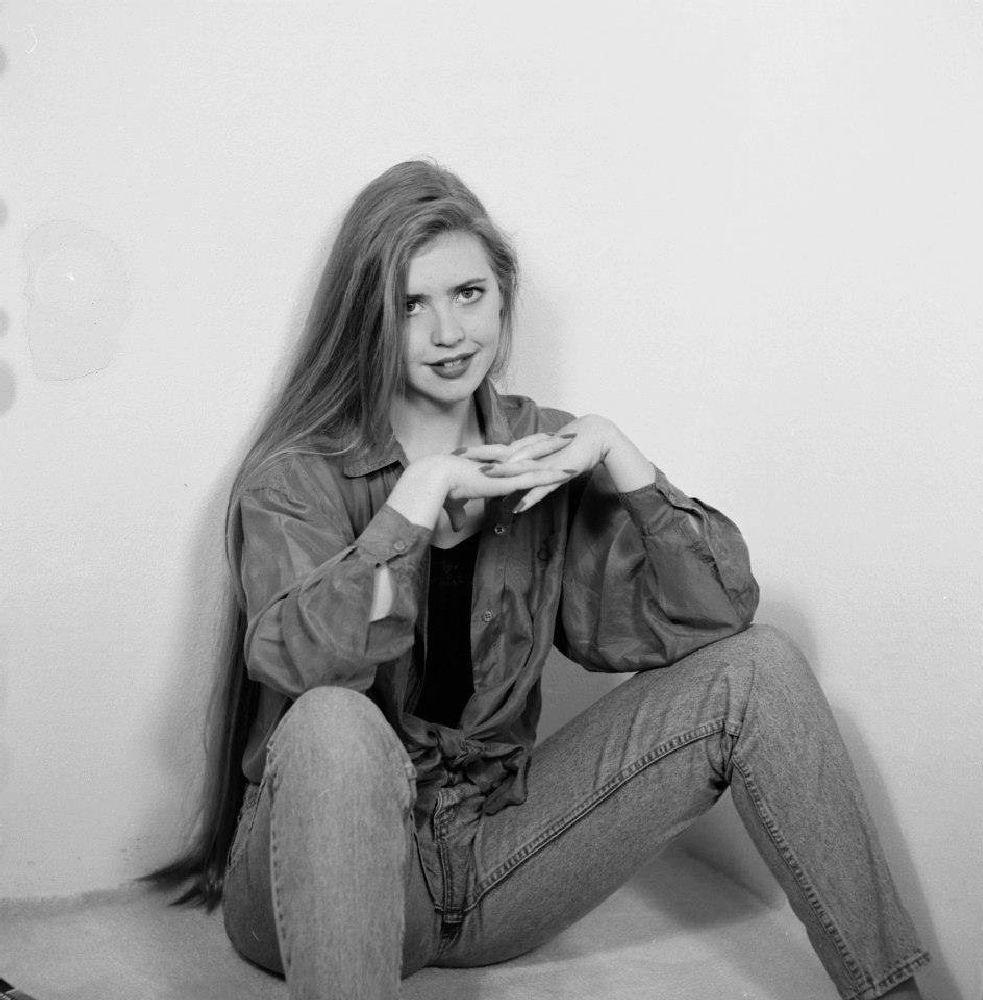 Photo in Black and White #lara #model #woman