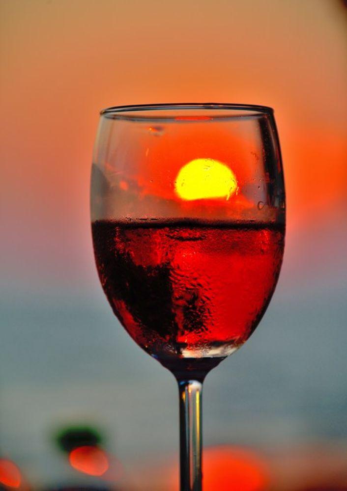 Photo in Still Life #wine #sunset