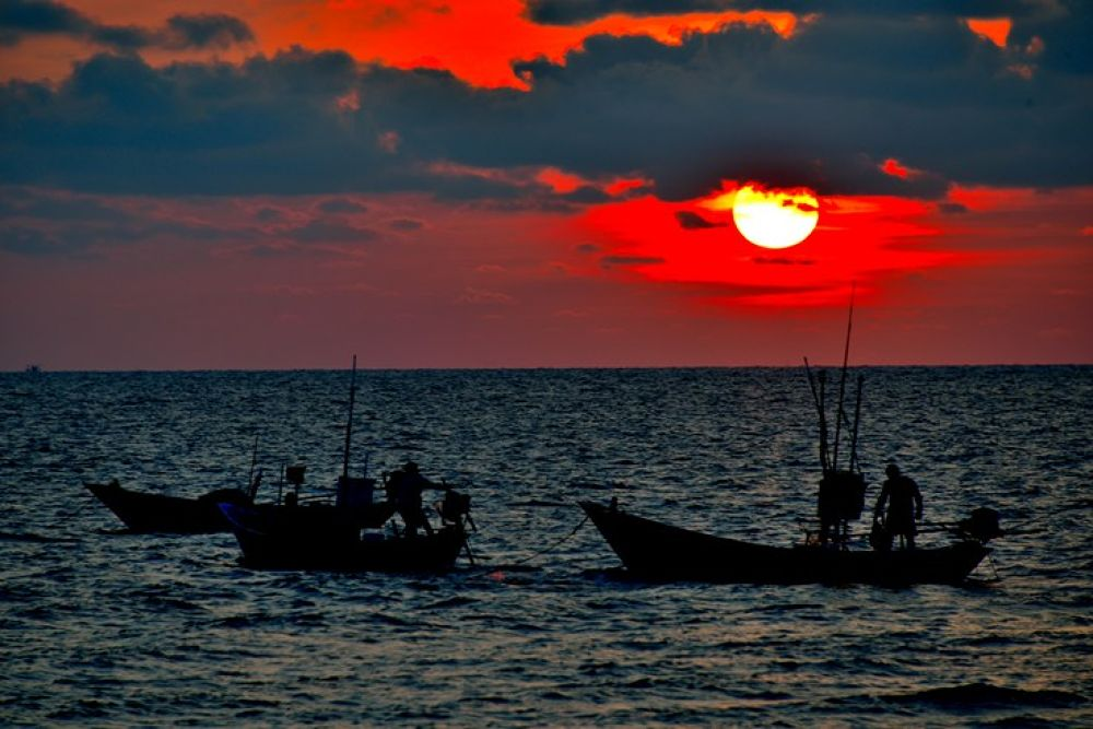 Photo in Fine Art #sunset #fisherman