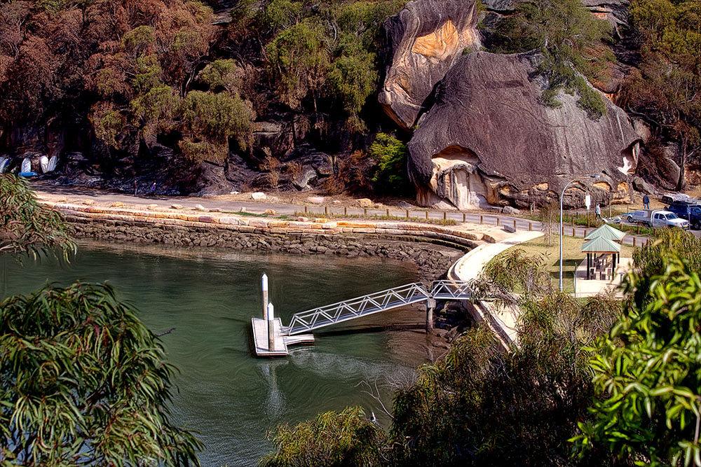 Photo in Landscape #nsw #hawksbury river #river #wharf #pontoon #rocks