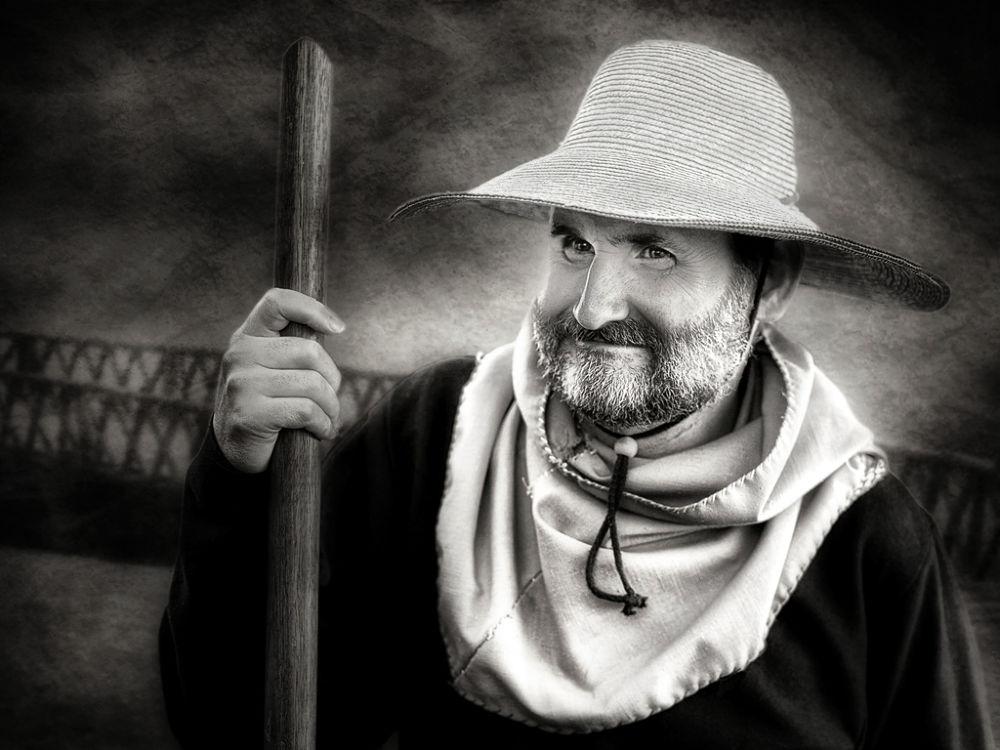 Photo in Random #farmer #hat #black and white
