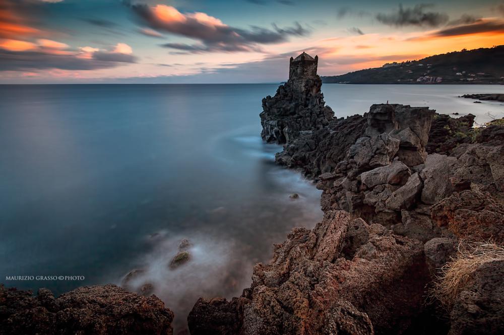 Photo in Random #sicilia #torri #mare #tramonto