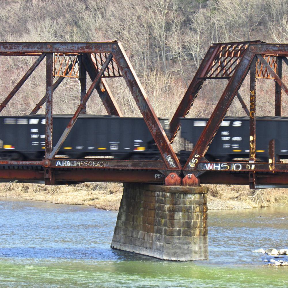 Photo in Rural #motion #trains #bridge #action #landscape #fall