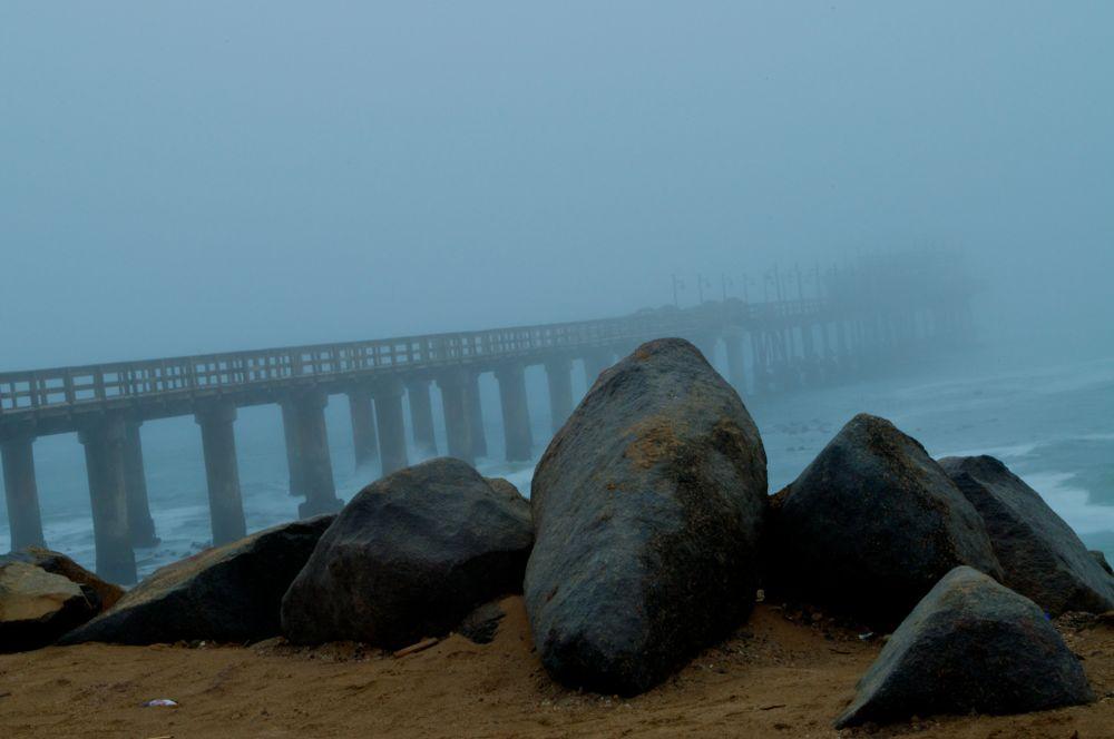 Photo in Random #fog #coast #quai
