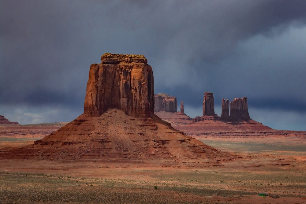 Photo in Landscape #nature #desert #clouds #storm #rocks