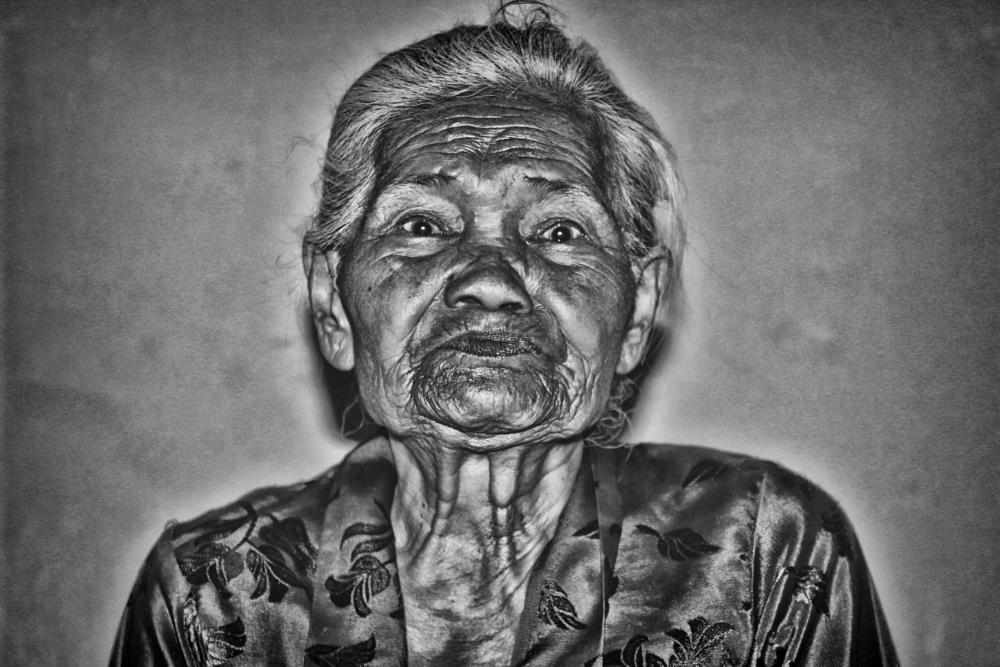 Photo in Black and White #retro #life #line #people #old #girl #art #bw