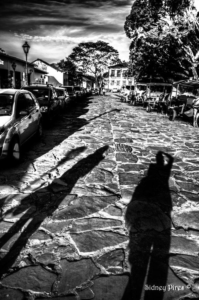 Photo in Black and White #tiradentes - mg #cidade histórica #sidney pires #sidney oliveira pires júnior