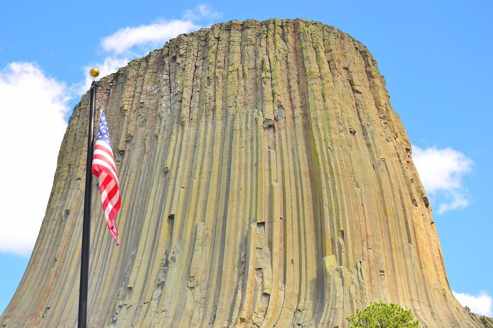 Photo in Landscape #america #flag #wyoming #devils tower #landscape