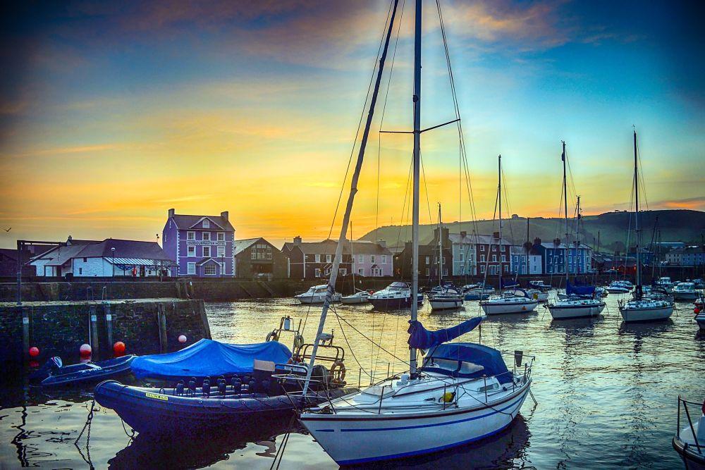Photo in Landscape #aberaeron #sunrice #harbour #wales #df #nikon #andrew chittock #sea #coast #cardigion bay #seascape