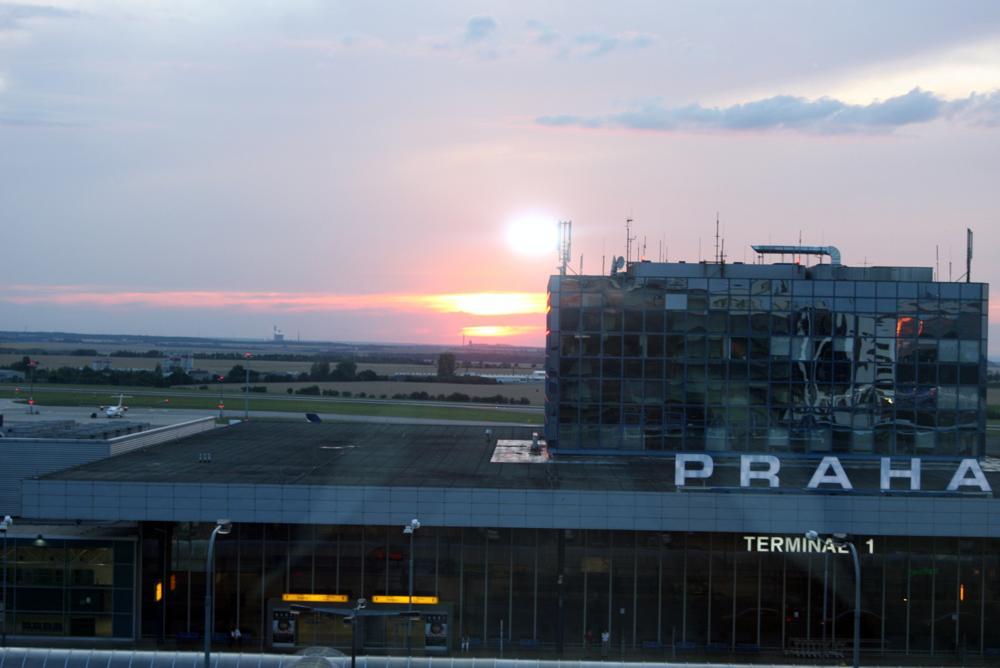 Photo in Travel #airport #prague #sunset