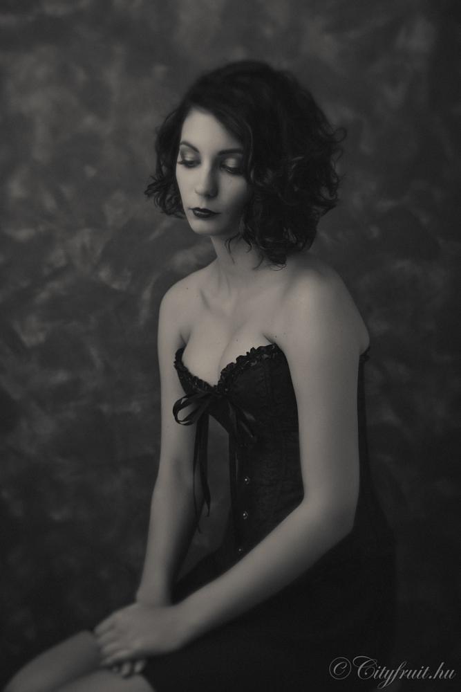 Photo in Portrait #sadness #black & white #girl #sexy #sarrow #glamour