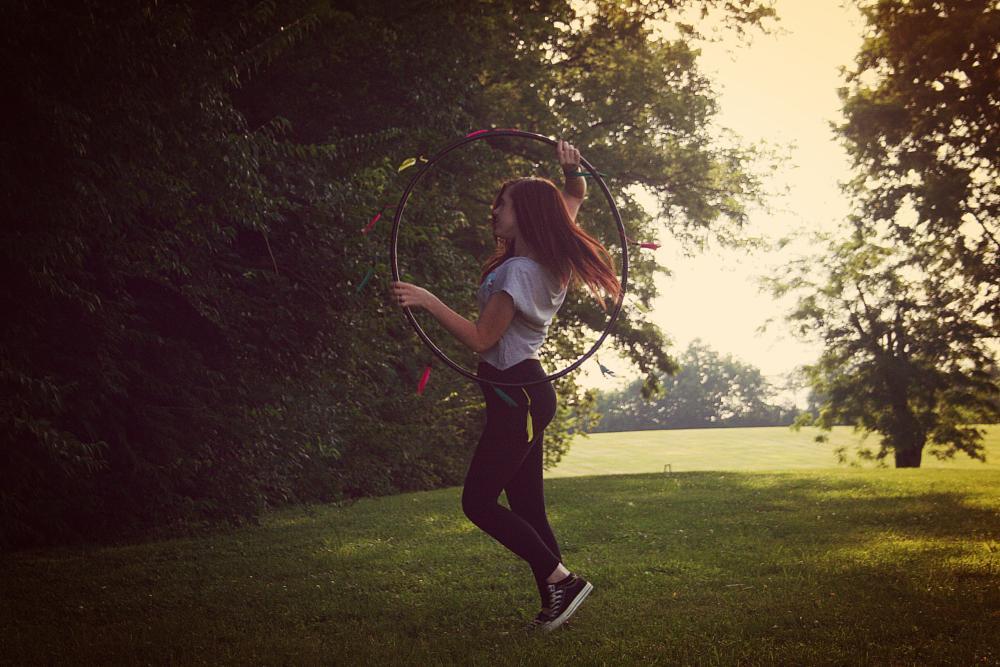 Photo in People #hula hoop #dance #hoop #feather