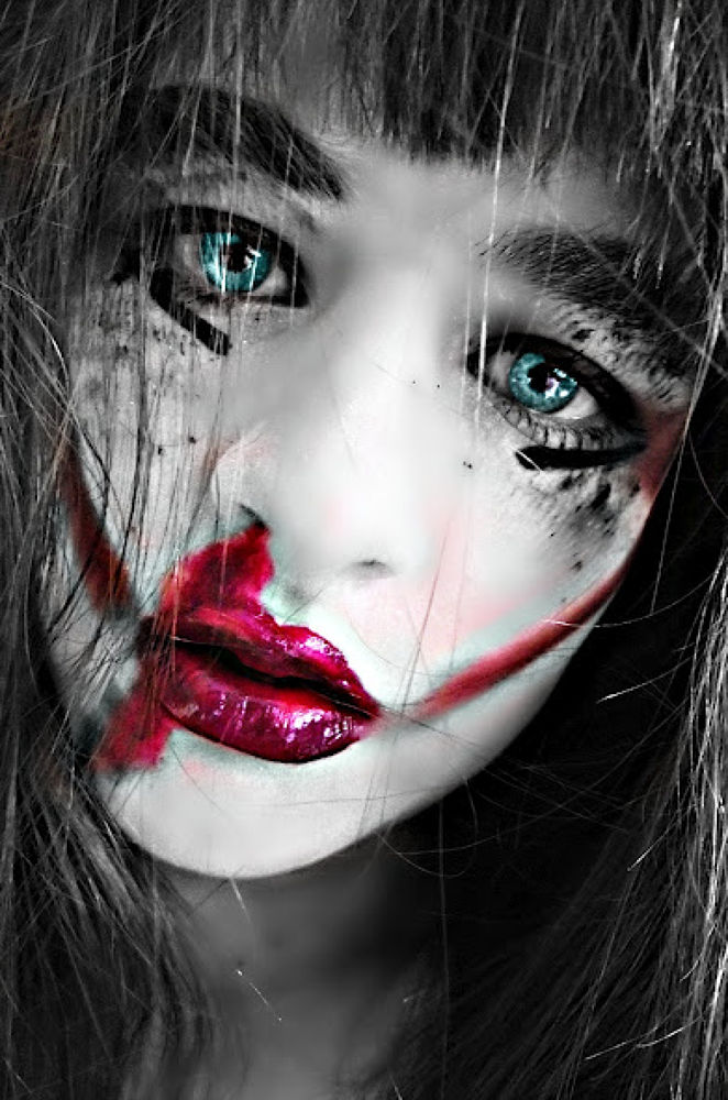 Photo in Random #daunting #grunge #black #white #mess #blood #sadness #despressed #crying