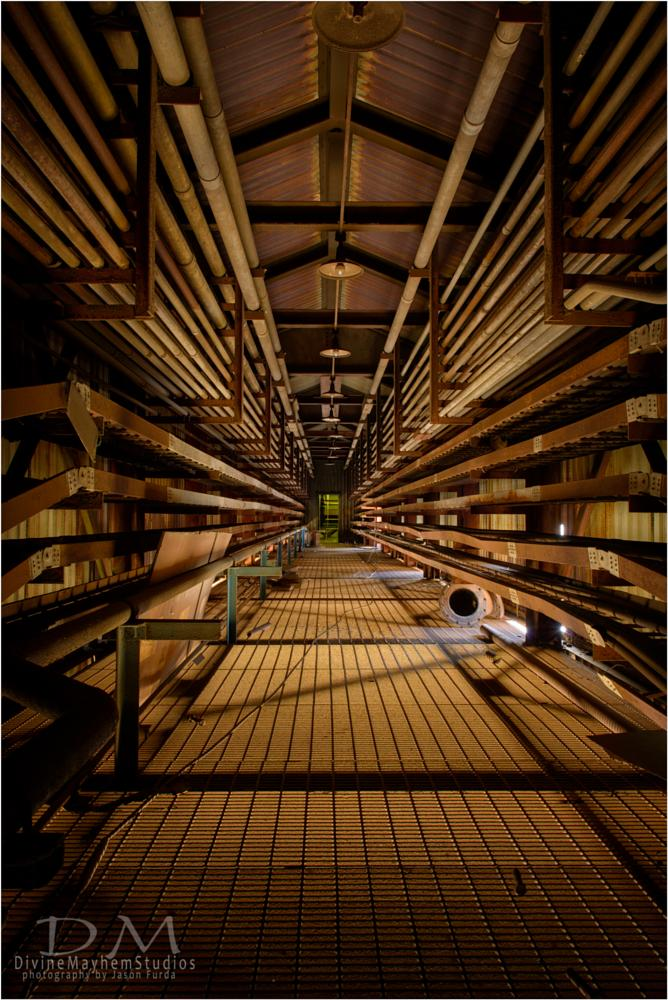 Photo in Urban #linear perspective #steel mill #urbex