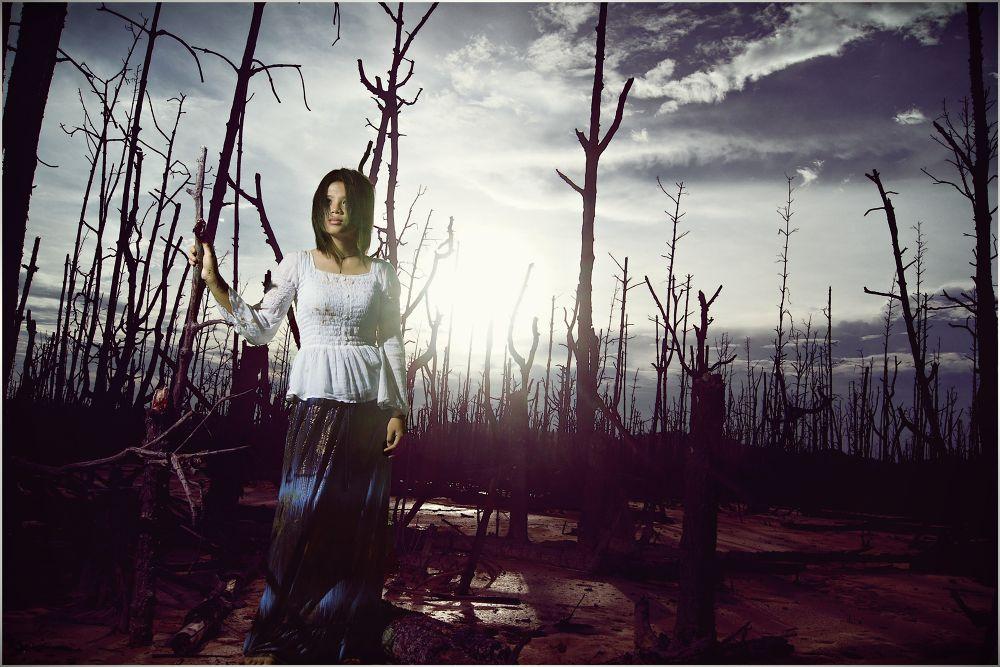 Photo in Portrait #powerpuffpunkies #sandakan #sabah #lost