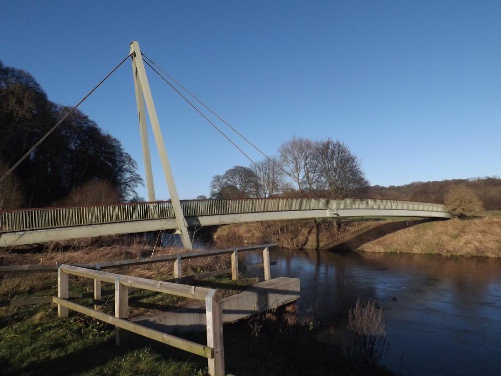 Photo in Landscape #bridge #landscape #river #trees