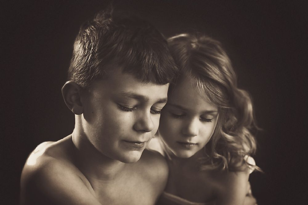 Photo in Family #sibling #black and white #portrait