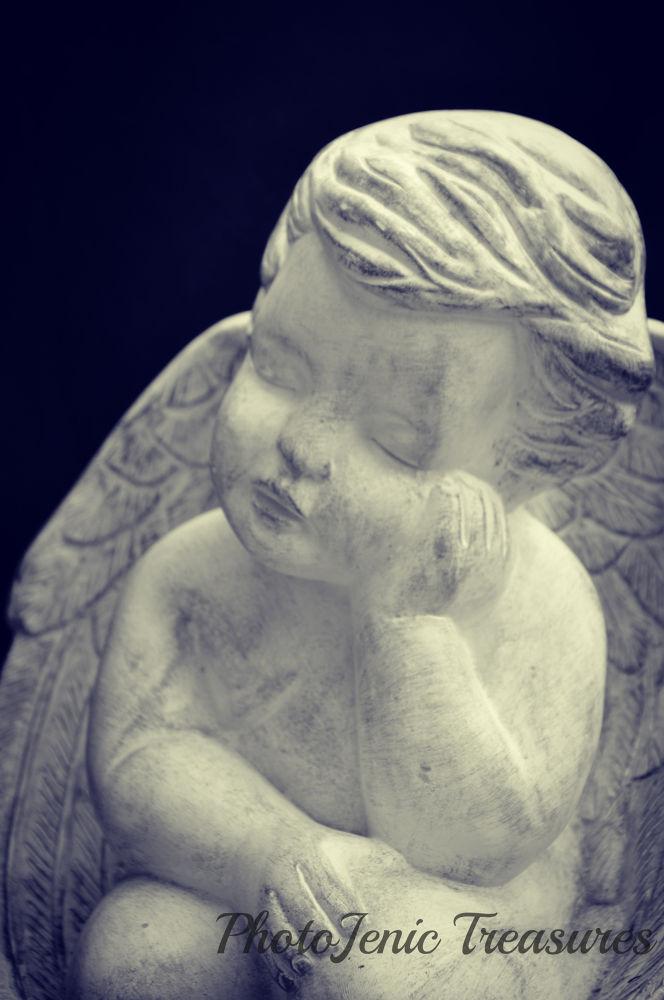 Photo in Black and White #cherub #photojenic #treasures #black and white #fantasy #child #love #valentine