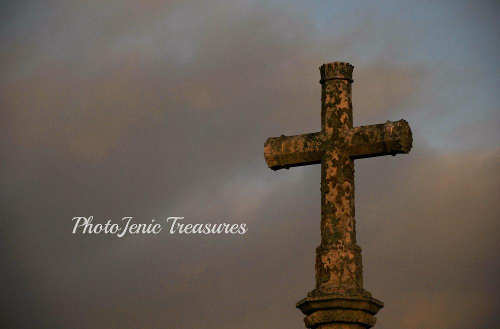 Photo in Architecture #cross #sun #evening #photojenic treasures #church