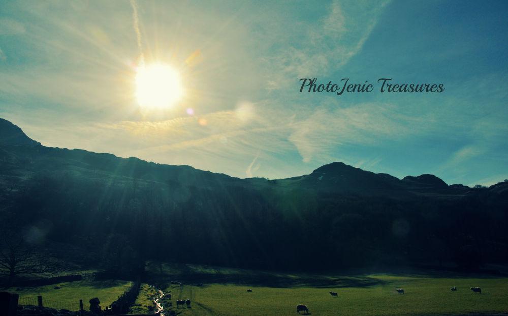 Photo in Landscape #landscape #sun #stream #lake district #cumbria #farm #photojenic treasures