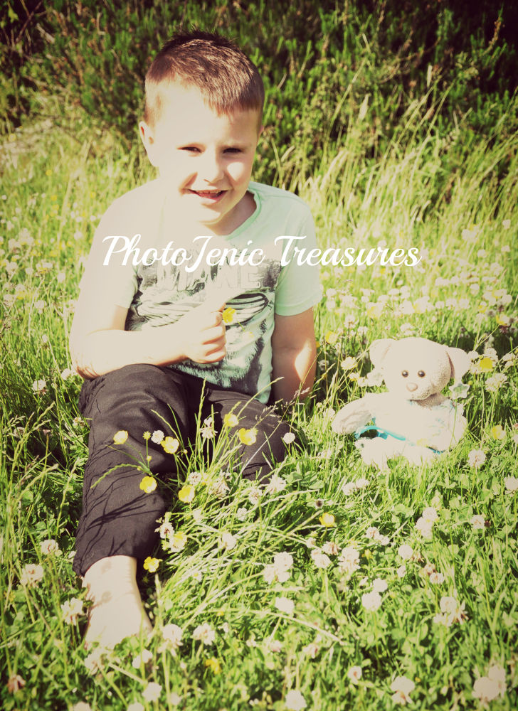 Photo in Portrait #green #portrait #photojenic treasures #boy #bear #soft toy #teddy #fun