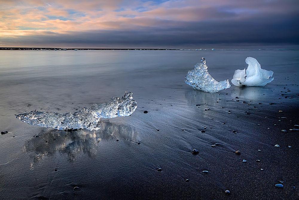 Photo in Landscape #ice #sunrise #sea #beach #iceland