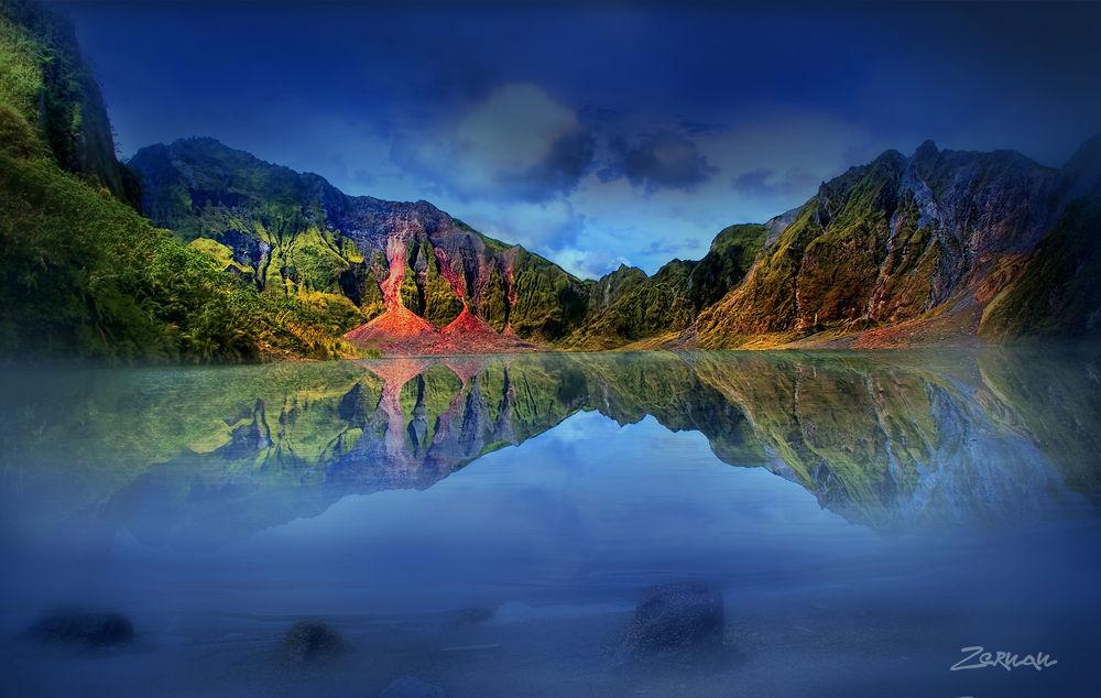 Photo in Landscape #mt pinatubo #pinatubo crater #zernan mataya #beautiful crater #volcano #lahar