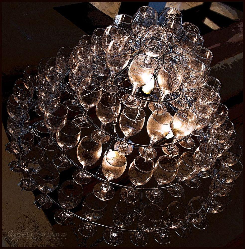 Photo in Random #glasses #lights #gozo #malta #ceiling lights