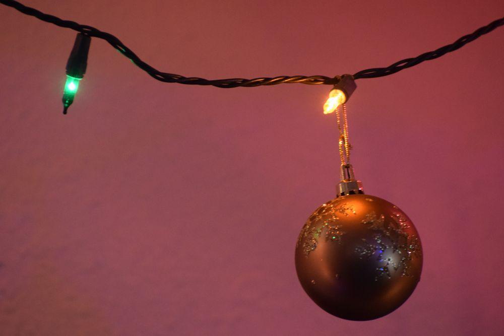 Photo in Random #ornaments #christmas lights #colored lights #reflections #google me: lawrence scott hess #arkansawhillbilly