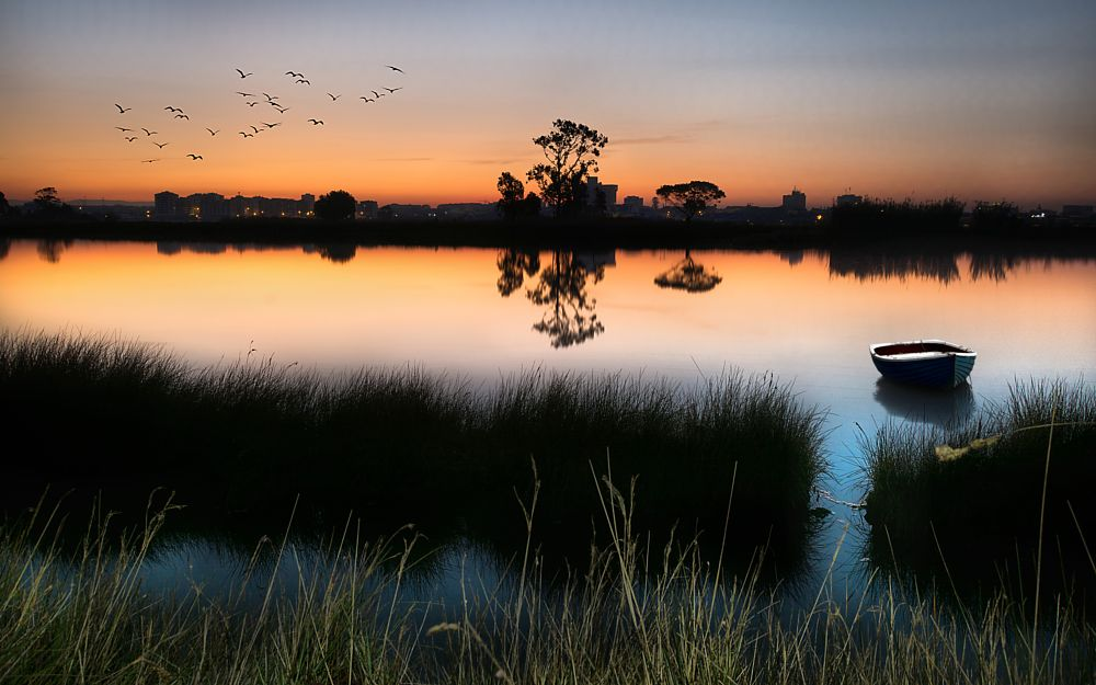 Photo in Landscape #portugal #aveiro #ria #sunset #lake #relax #beauty #europe #sky