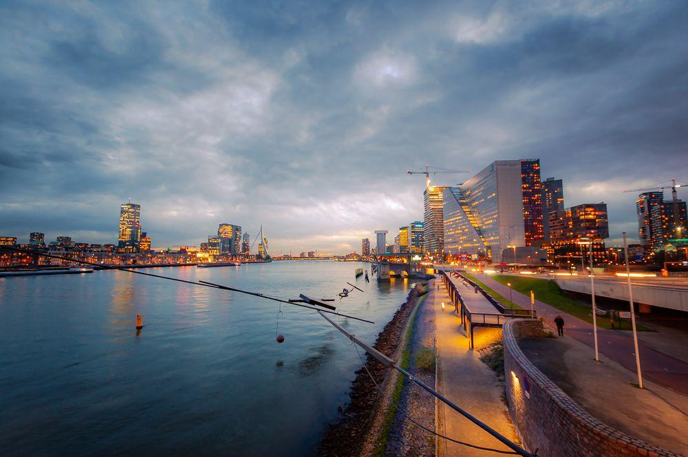 Photo in Cityscape #rotterdam #cityscape #sunset #travel #thenetherlands #europe #erasmus