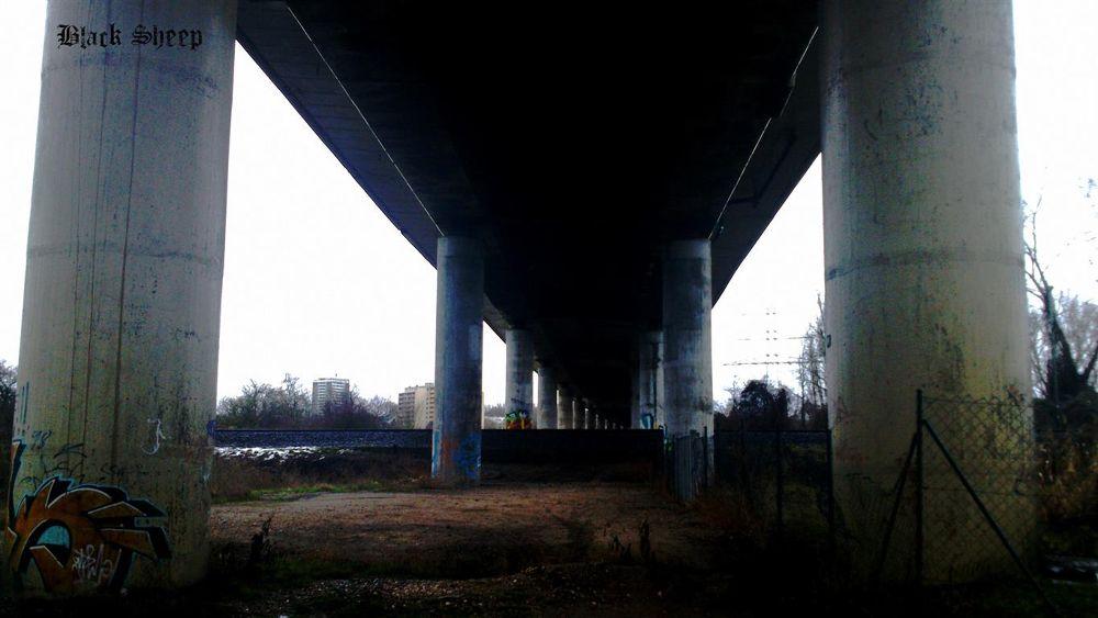 Photo in Architecture #bridge #under the bridge #bauwerk #architecture #street #city #city life #brücke