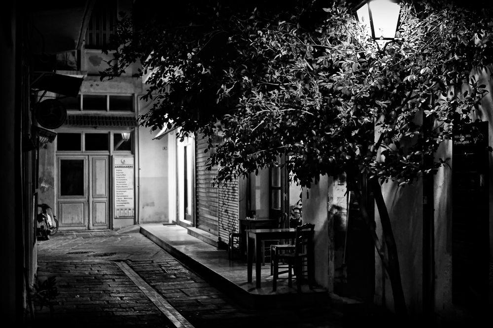 Photo in Random #mono #monochrome #street #street photography #b&w #black and white #white and black #tree #table #path #alley #door #window #street lamp