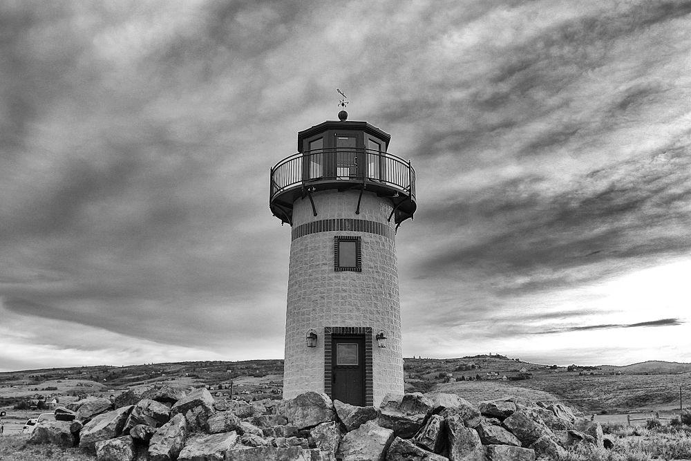 Photo in Black and White #lighthouse #bear lake #garden city