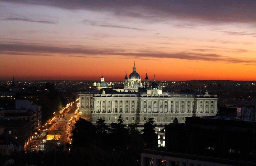 Photo in Architecture #ypa2013 #madrid #royal palace #sunset #spain #españa #visit spain