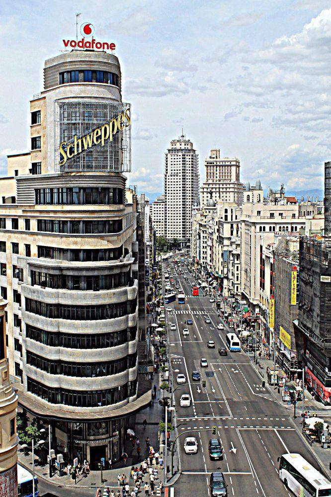 Photo in Architecture #gran vía #madrid #callao #plaza de españa #españa #spain #hdr #ypa2013