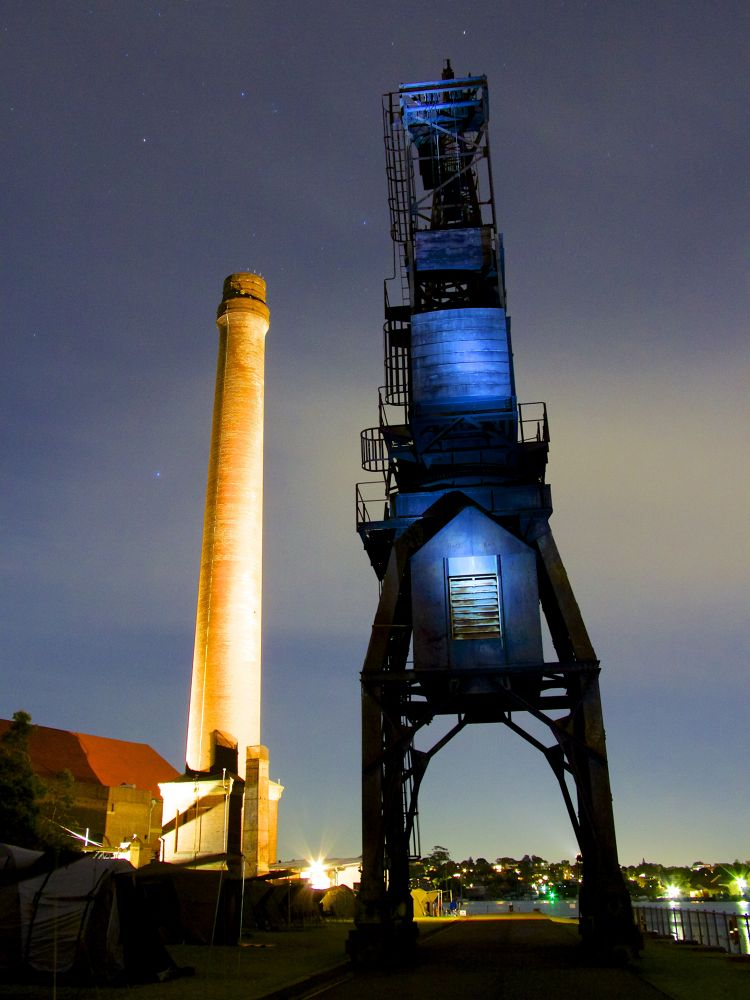 Photo in Random #industrial #landscape #architecture #art #history #light #sydney #iconic #night time