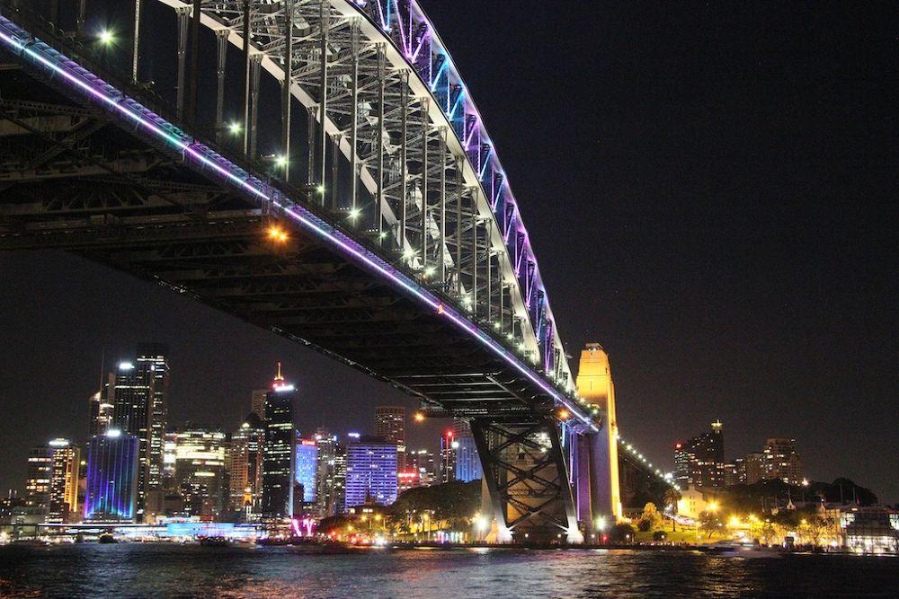 Photo in Cityscape #australia #sydney #cityscape #travel #light #nighttime #iconic #architecture #colour